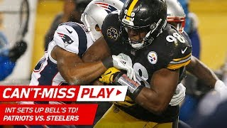 Download Pittsburgh Picks Off Brady for the 1st Time Since 2005 & Bell's TD!   Can't-Miss Play   NFL Wk 15 Video