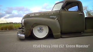 Download 1950 Chevy 3100, Ratrod Patina, Bagged, Air Ride, Ride Tech, LS2 Video