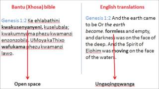 Download PROOF original bible was in Bantu language Video