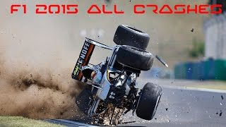 Download F1 2015 All Crashes Compilation Video
