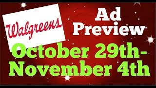 Download Walgreens Ad Preview Chit Chat October 29th-November 4th 2017 Video