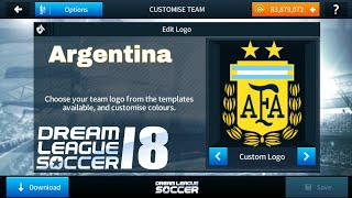 Download How To Import Argentina Logo And Kits In Dream League Soccer 2018 Video