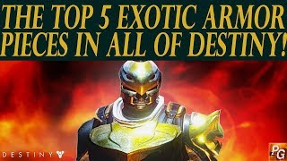 Download Destiny: The 5 Best Exotic Armor Pieces In Destiny! (My Top 5 Exotic Armor) Video