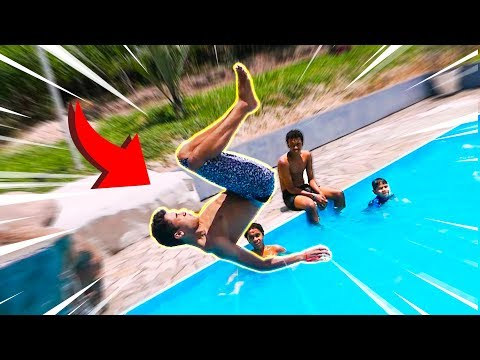 DESAFIO DO PULO NA PISCINA !! ‹ AUTHENTIC ›