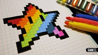 Download Handmade Pixel Art - How To Draw a Kawaii Rainbow Star #pixelart Video