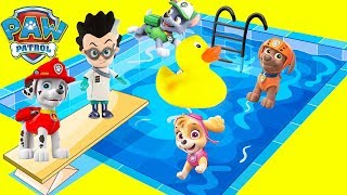 Download Paw Patrol Waterslide Toy Compilation with Rubber Ducky Kiki, PJ Masks Video