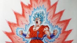 Download Drawing Goku Super Saiyan Blue kaioken x10 Video