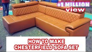 Download How to make sofa set corner chester design in back Video