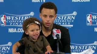 Download Steph Curry's Daughter Riley Steals the Show Video