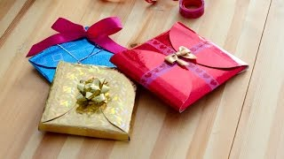 Download DIY How to make cheap, quick and easy gift wrapping in 5 minutes. Video