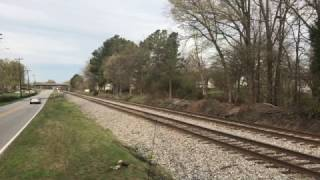 Download N&W 611 Overtakes NS Freight Train in Thomasville, NC in 4K Video