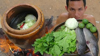 Download Primitive Technology: Fishing Big Fish and Cook in Water Tank Eating Delicious Video