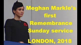 Download Meghan Markle's first Remembrance Sunday service at Cenotaph in London, 2018 Video