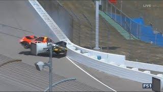 Download NASCAR Camping World Truck Series 2017. Michigan International Speedway. Cody Coughlin Huge Crash Video