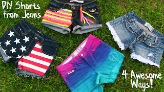 Download DIY Clothes! 4 DIY Shorts Projects from Jeans! Easy Video