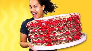 Download Giant Lasagna Cake & AMAZING NEWS!! | How To Cake It Video