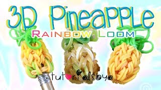 Download NEW 3D Pineapple Pencil Topper / Charm Rainbow Loom Tutorial | How To Video