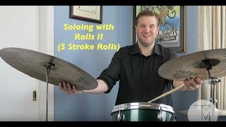 Download Jazz Drum Lesson: Soloing with Rolls II (5 Stroke Rolls) Video