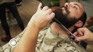 Download Best Way to Shape Curly Beard at Barbershop   Hari Cut & Grind Video