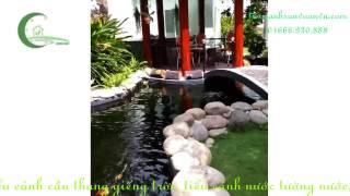 Download Chòi nghỉ suối cá koi sân vườn biệt thự Video