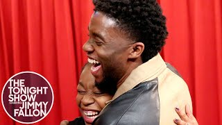 Download Chadwick Boseman Surprises Black Panther Fans While They Thank Him Video