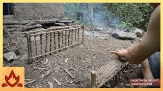 Download Primitive Technology: Woven bark fiber Video