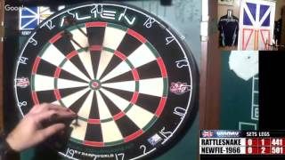 Download Rattlesnake vs Newfie-1966 -WDA Darts Video