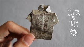 Download MENYULAP UANG MENJADI BAJU ORIGAMI | HOW TO MAKE T-SHIRT ORIGAMI FROM MONEY Video