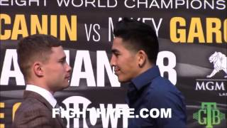 Download CARL FRAMPTON AND LEO SANTA CRUZ SERIOUS STAREDOWN; COME FACE TO FACE AHEAD OF EXCITING REMATCH Video