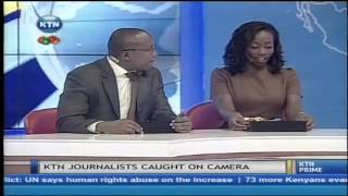 Download KTN journalist caught on camera Video