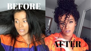 Download Heatless Straight to Curly Hair Tutorial | Straw Curls Video