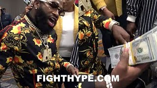 Download ADRIEN BRONER PEACOCKING, FLOSSIN, AND PUTS JEWELER ON FRONT STREET IN FRONT OF FANS Video