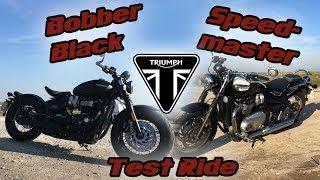 Download New Triumph Bobber Black & Speedmaster Test Ride Video
