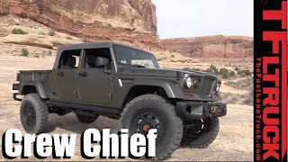 Download We Drive the Jeep Crew Chief 715 Pickup Truck Concept Off-Road! Video