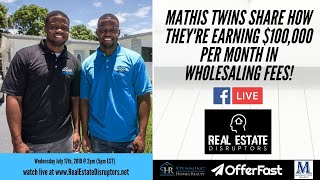 Download Mathis Twins Share How They're Earning $100,000 Per Month In Wholesaling Fees! Video