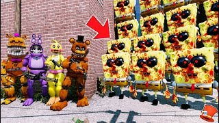 Download CAN THE ANIMATRONICS DEFEAT THE EVIL SPONGEBOB.EXE ARMY? (GTA 5 Mods FNAF Kids RedHatter) Video