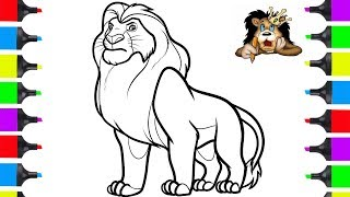 Download How To Draw Lion King Disney Movie   Coloring Pages For Children   Draw Animals Video