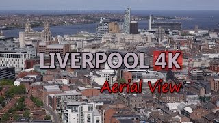 Download Ultra HD 4K Liverpool Travel England Tourism Aerial View UK Tourist Sights UHD Video Stock Footage Video