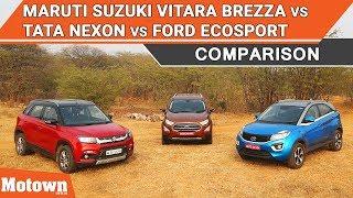Download Maruti Suzuki Vitara Brezza Vs. Tata Nexon Vs. Ford EcoSport | Comparison | Motown India Video