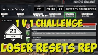 Download NBA 2K17 1V1 AGAINST TRASH TALKER!! LOSER HAS TO RESET THEIR MYPARK REP!! Video