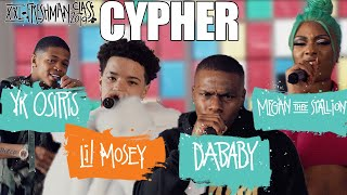 Download DaBaby, Megan Thee Stallion, YK Osiris and Lil Mosey's 2019 XXL Freshman Cypher Video