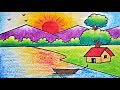 Very Easy Scenary Drawing | How to Draw Simple Scenery for Kids