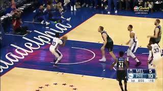 Download Ben Simmons goes Off the Glass and pass to Markelle Fultz Video