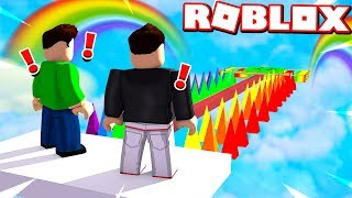 Download ROBLOX RAINBOW OBBY TROLLS my LITTLE BROTHER! Video