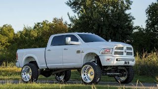 Download 2Sikk's 2015 Ram 2500 Cummins on 26x14 Specialty Forged Wheels and 37″ Forgiato Tires on a 10″ Lift! Video
