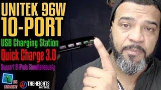 Download Unitek 96W 10-Port USB Charging Dock Hub 🔌 : LGTV Review Video