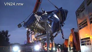 Download 03.09.2018 - VN24 - Tödlicher LKW-Unfall auf A2 in Dortmund - Schweinetransport fährt auf Stauende Video