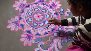 Download How to Paint Amazing Alpana / Rangoli Designs for Wedding Video