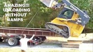 Download Amazing!!! Unloading without ramps. Video