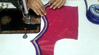 Download easy patch work blouse design cutting and stitching Video